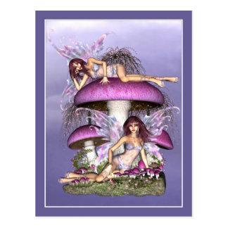 Fairy Postcard - Mushroom Fairies