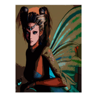 Fairy Poster Comic Pop Art Cut Out Style