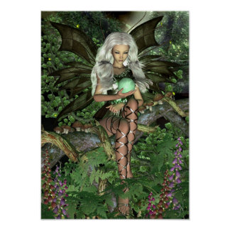 Fairy Poster - Woodland Faerie [A3]
