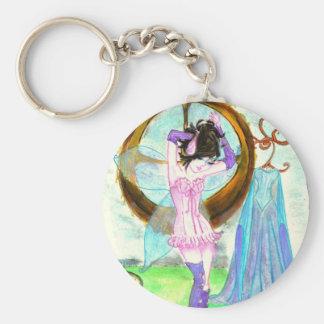 fairy preparing basic round button keychain