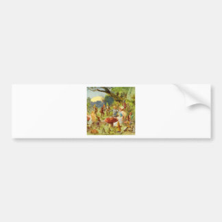 Fairy Prince and Thumbelina in the Magic Forest Bumper Sticker
