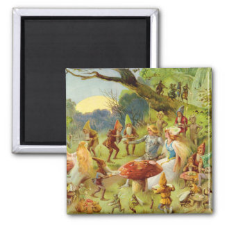 Fairy Prince and Thumbelina in the Magic Forest Magnet