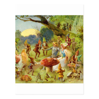 Fairy Prince and Thumbelina in the Magic Forest Postcard