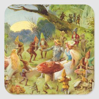 Fairy Prince and Thumbelina in the Magic Forest Square Sticker