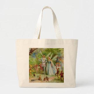 Fairy Prince and Thumbelina in the Magic Wood Bag