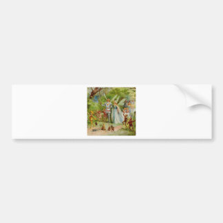 Fairy Prince and Thumbelina in the Magic Wood Bumper Sticker