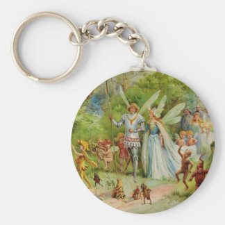 Fairy Prince and Thumbelina in the Magic Wood Keychain