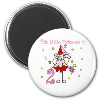 Fairy Princess 2nd Birthday 2 Inch Round Magnet