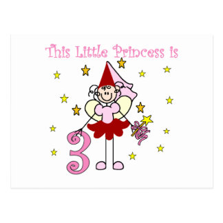 Fairy Princess 3rd Birthday Tshirts and Gifts Postcard