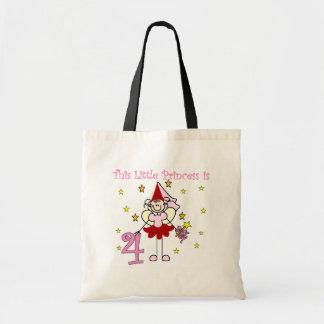 Fairy Princess 4th Birthday  Tshirts and Gifts Bags