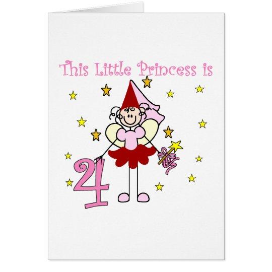Fairy Princess 4th Birthday  Tshirts and Gifts Card