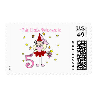 Fairy Princess 5th Birthday Tshirts and Gifts Postage