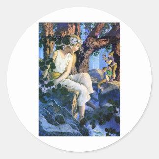 Fairy Princess and the Gnomes Classic Round Sticker