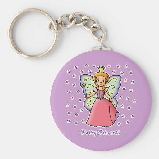 Fairy Princess Basic Round Button Keychain