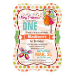 Fairy Princess & Butterfly Birthday Party 5x7 Paper Invitation Card
