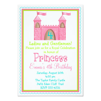 Fairy Princess Castle Birthday Invitations