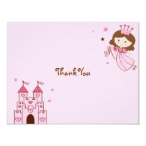 Fairy Princess Castle Thank You Note Cards
