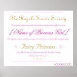 Fairy Princess Certificate Poster
