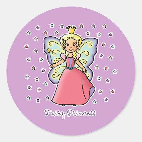 Fairy Princess Classic Round Sticker