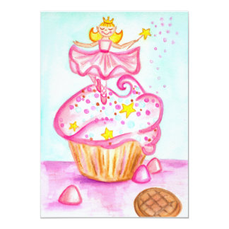 Fairy Princess Cupcake Invitations