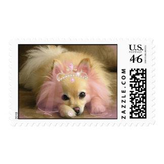 fairy princess dog with diamond crown stamp