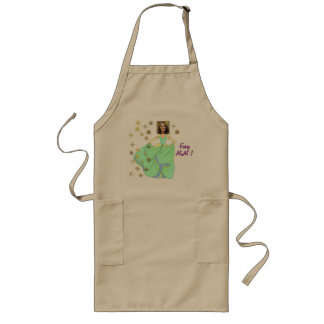 Fairy Princess, Dress & Stars - with YOUR Photo - Long Apron