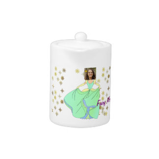 Fairy Princess, Dress & Stars - with YOUR Photo - Teapot