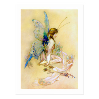 Fairy Princess Is Dressed By Pixies Postcard