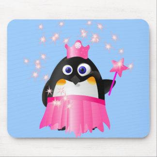 Fairy Princess Penguin Mousepads