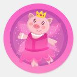 Fairy Princess Piggy Sticker