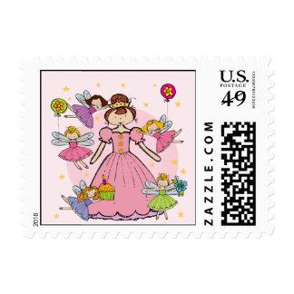 Fairy Princess Postage Stamps