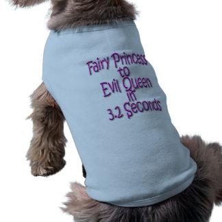 Fairy Princess to Evil Queen 3.2 Secs Pet Shirt