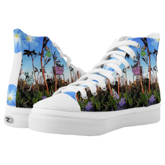 Fairy Princess! Woodland Faeries! Pixie Feet! High-Top Sneakers