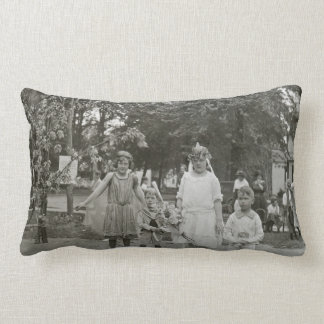 Fairy Princesses and Little Brothers too Vintage Throw Pillow