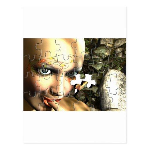 Fairy Profile jigsaw Post Card