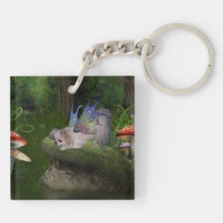 Fairy Puppy Key Chain