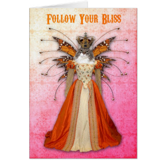 Fairy Queen Pussy Cat Greeting Card