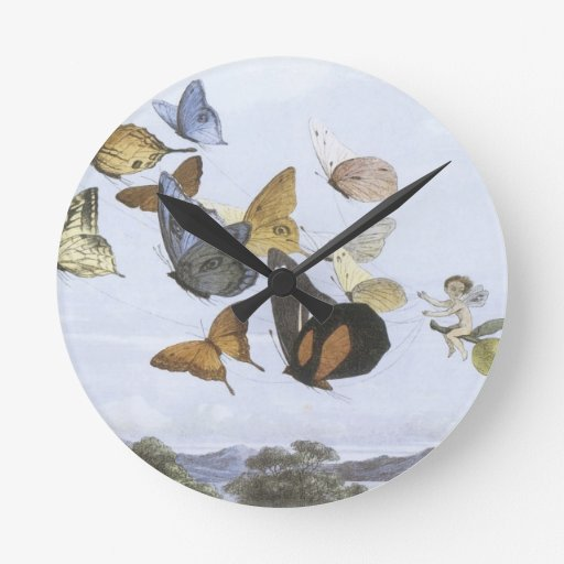 Fairy Queen Takes An Airy Drive,1870 Round Clock
