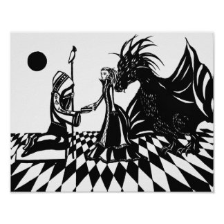 Fairy Queen with Dragon Poster