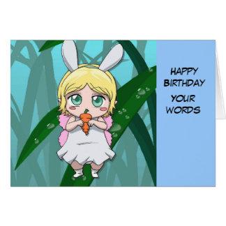 Fairy Rabbit girl Card