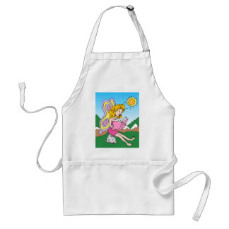 Fairy Reading a Book Cartoon Character Adult Apron