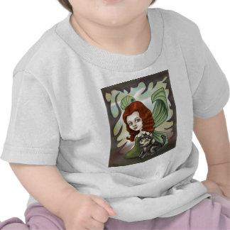 Fairy Redhead Girl and Husky Puppy T Shirt