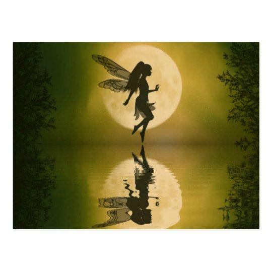 Fairy reflect postcard