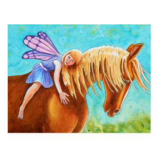 Fairy Rider, Horse Postcard