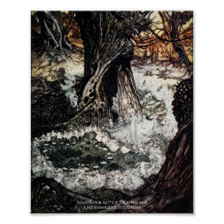 Fairy Ring Midsummer Night's Dream Arthur Rackham Poster