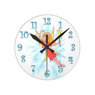 Fairy Round Clock