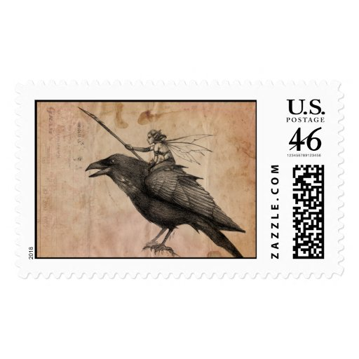 Fairy scout postage stamp