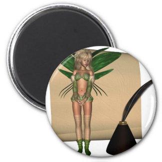 Fairy Scribe - 1 2 Inch Round Magnet