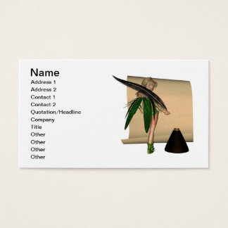 Fairy Scribe - 2 Business Card