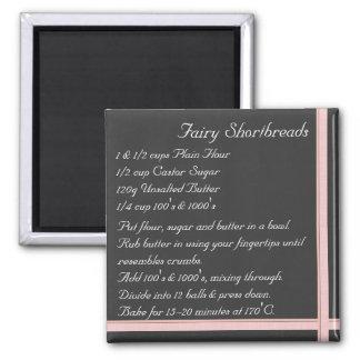 Fairy Short bread Recipe Magnet ribbon